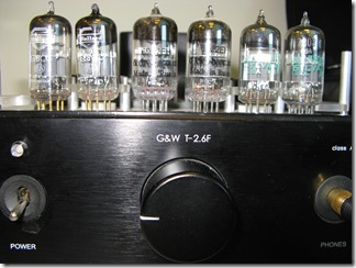 Tube selection, left to right: Mullard E88CC, Electro Harmonix 6922EH, JAN-Sylavnia 7308